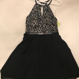 Windsor black lace short dress NWT